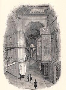 19世紀前半の監獄。小倉孝誠 著『19世紀フランス 光と闇の空間』(人文書院、1996年)から